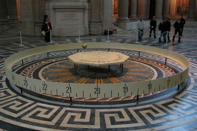 Маятник Фуко в Парижском Пантеоне
