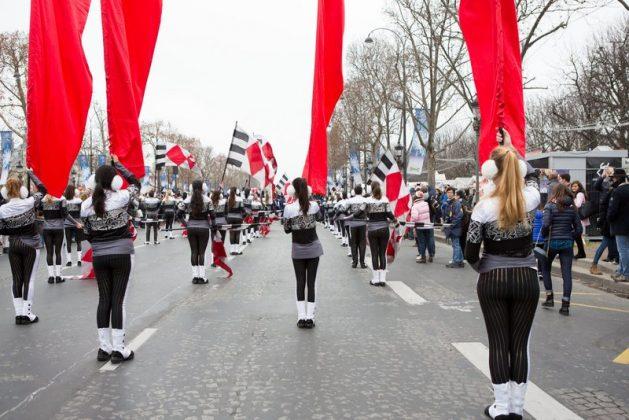 Парад 1 января в Париже