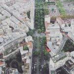Красивый вид с башни Монпарнас на Париж