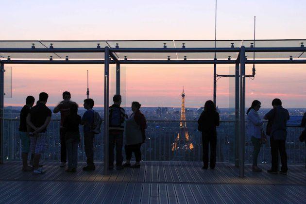 Вечерний Париж с Башни Монпарнас