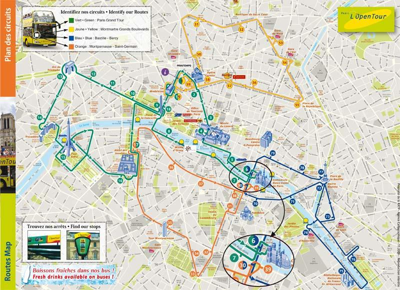 Экскурсии на автобусах в Париже