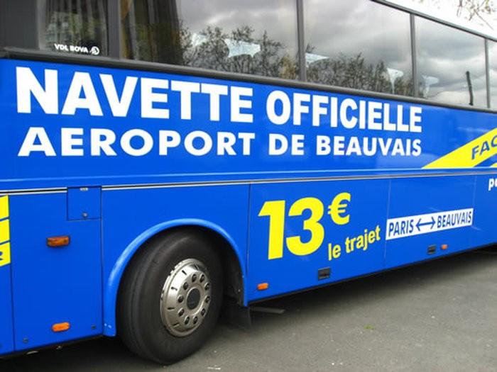 Из аэропорта Бове в Париж