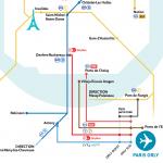Карта транспорта в аэропорту Орли