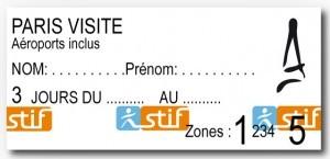 Билет Paris Visite
