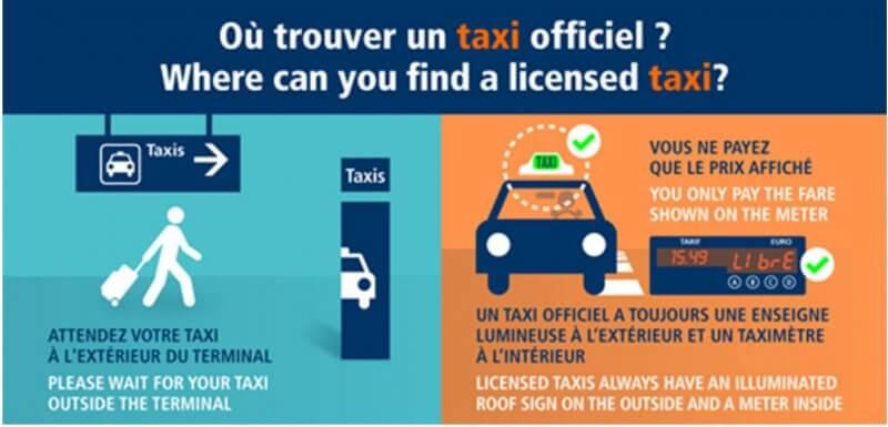 Такси из Шарль де Голль в центр Парижа