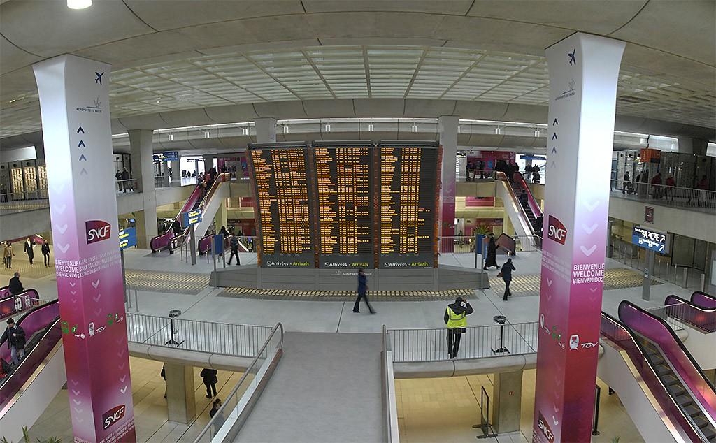 Информационное табло поездов TGV