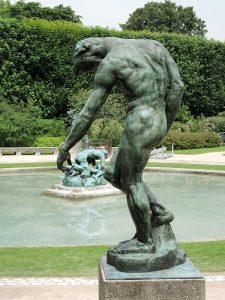 Скульптура Адам в музее Родена