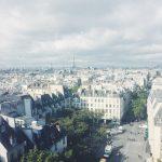 Вид на Париж с обзорной площадки Помпиду