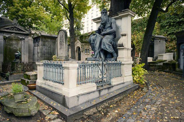 Кладбище Монмартр в Париже