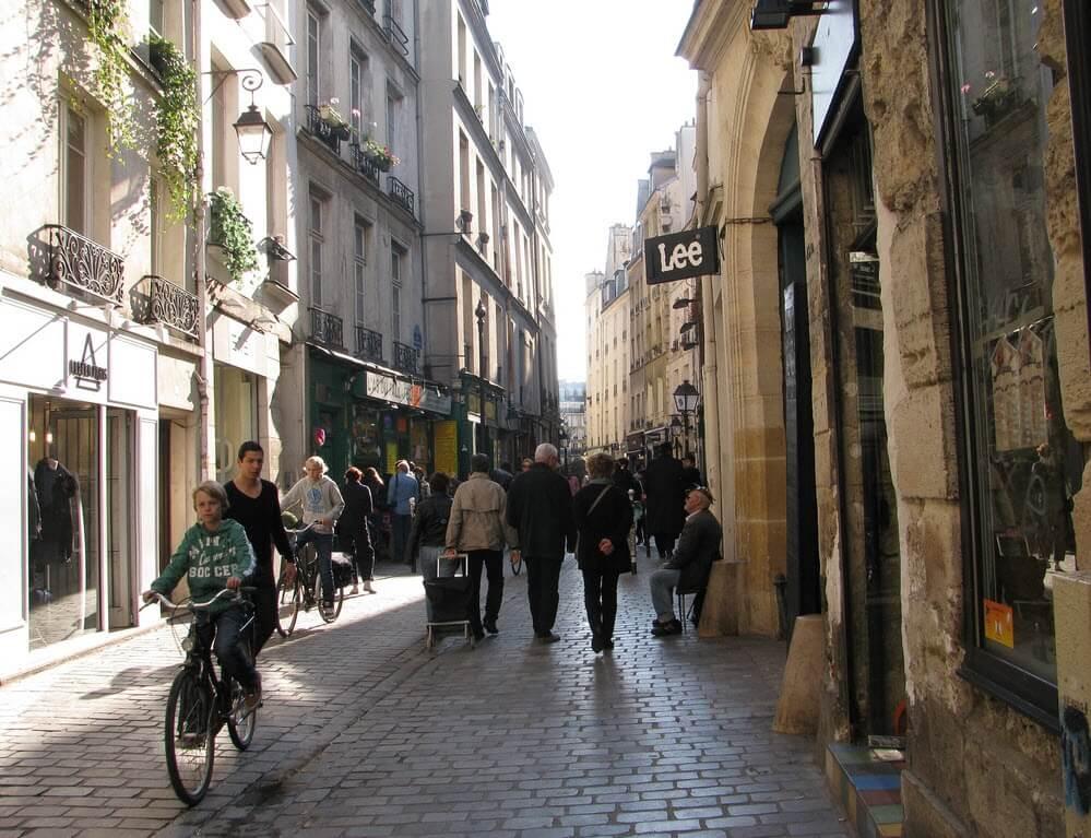 Район Марэ в Париже