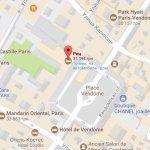 Отель Ritz на карте Парижа