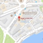 Отель Shangri-La Paris на карте Парижа