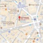 Отель Intercontinental Paris Le Grand на карте Парижа