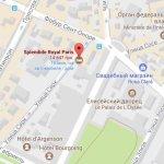 Отель Splendide Royal Paris на карте Парижа