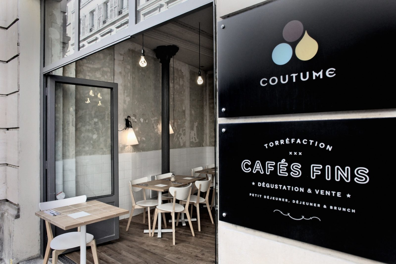 Выпить кофе в Café Coutume
