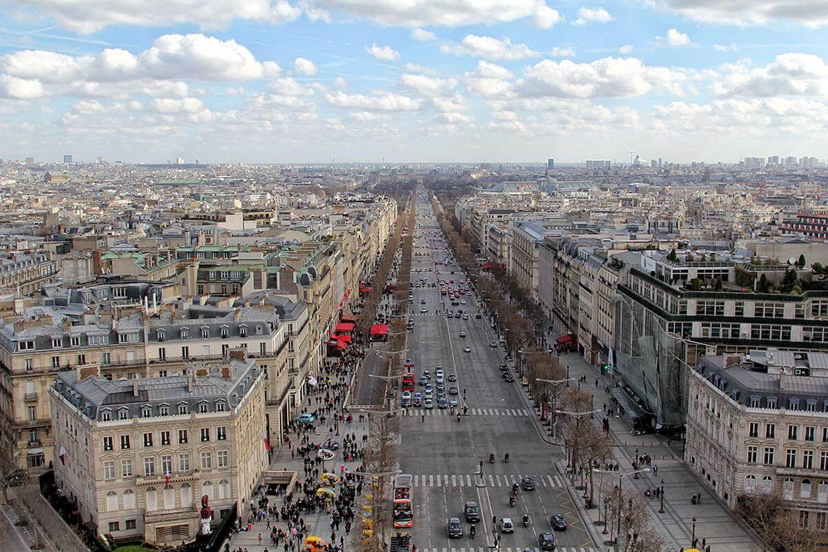 Вид со смотровой площадки Триумфальной арки