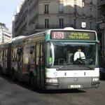 Карта автобусных маршрутов с улицами Парижа