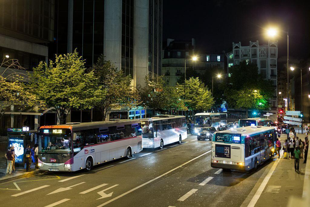 Карта ночных автобусов Парижа