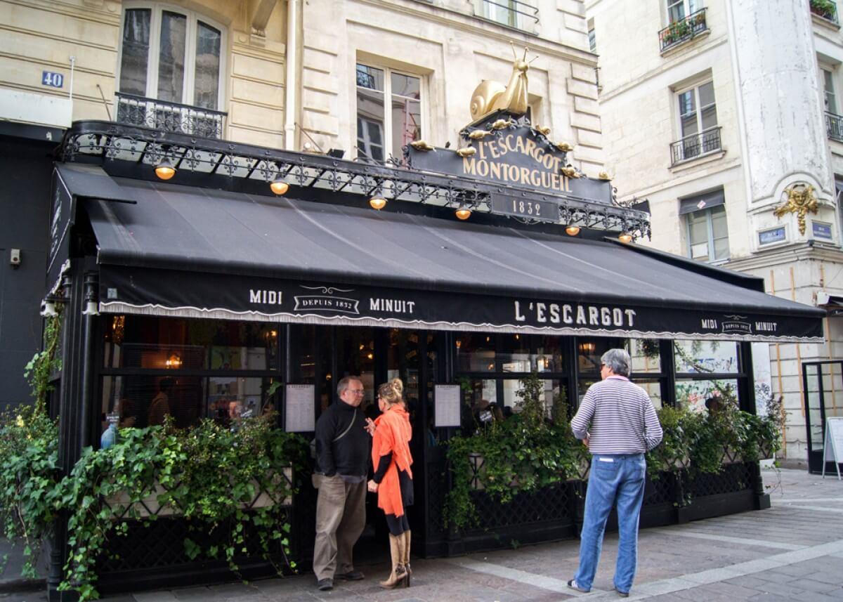 Ресторан Les Papilles в Париже