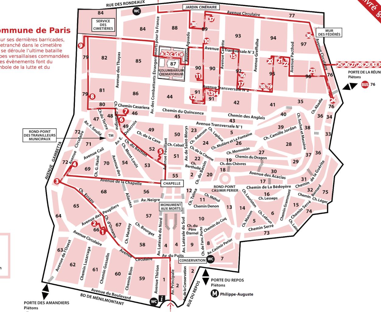 Карта Пер Лашез