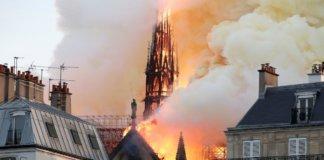 Пожар в Париже 15 апреля 2019