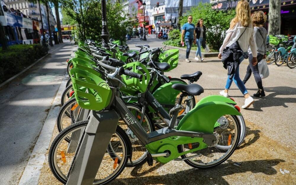 Велосипеды Velib в Париже прокат