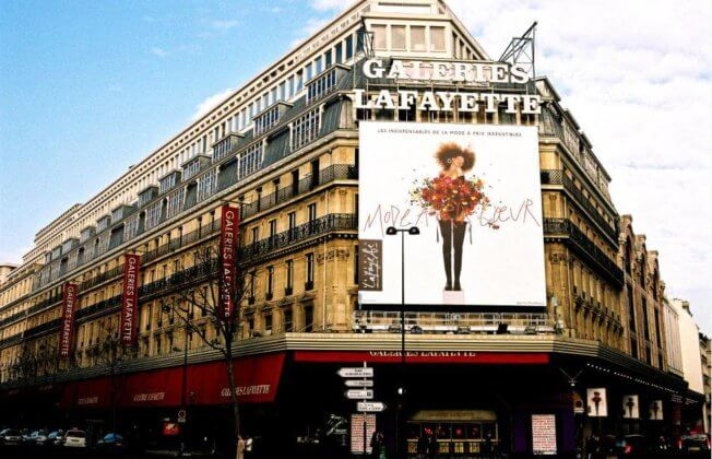 Галерея Лафайет в Париже