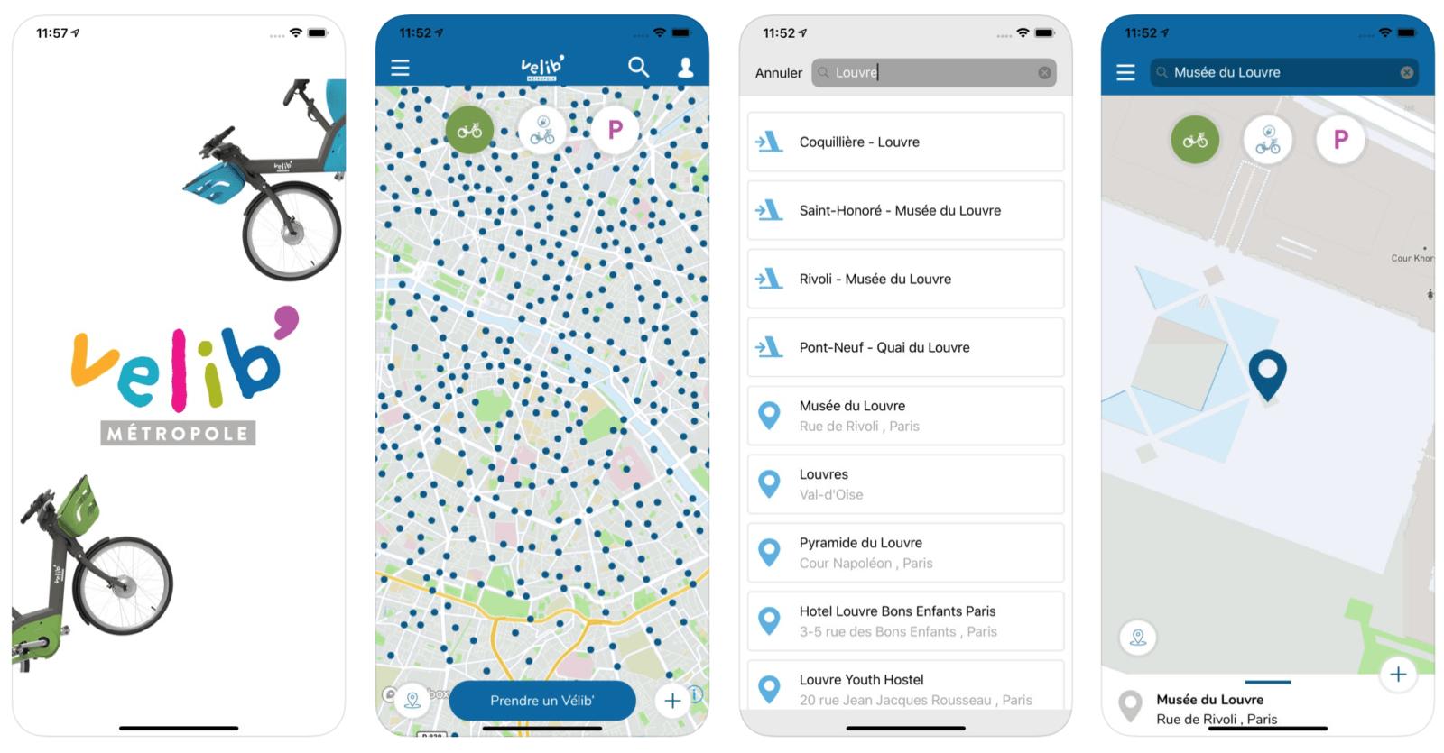 Мобильное приложение Velib