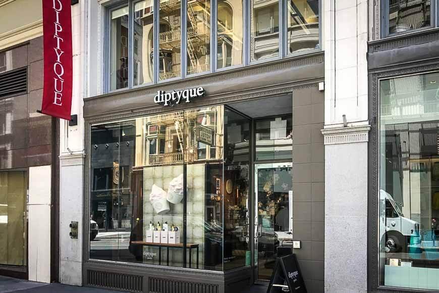Магазин Diptyque в Париже