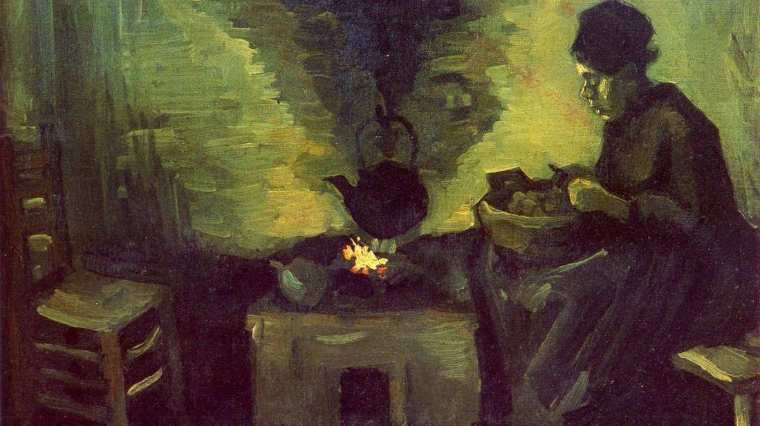 Крестьянка возле очага