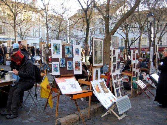 Площадь Тертр Париж