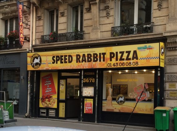 Сервис доставки Speed ​​Rabbit Pizza в Париже