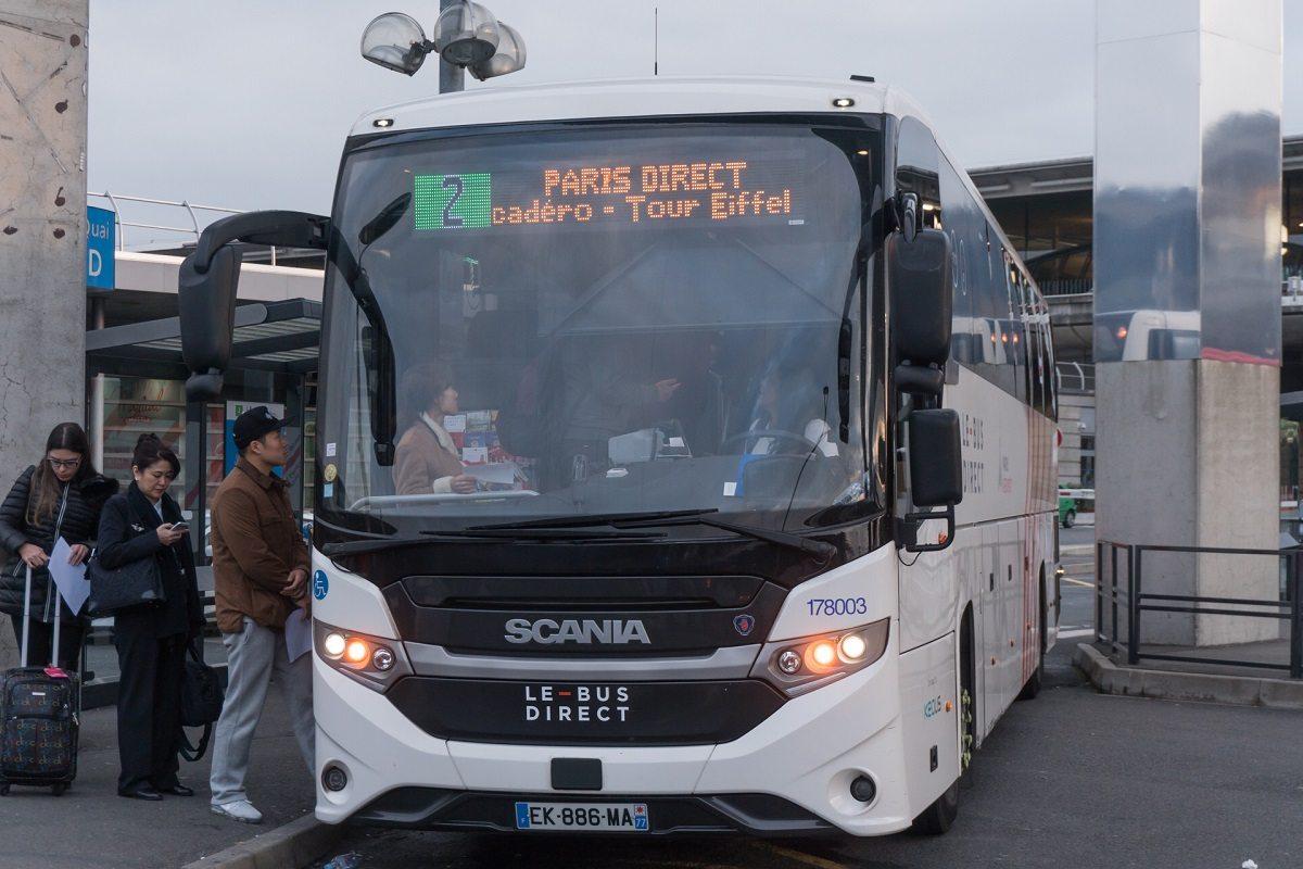 Как доехать в Париж из Шарль де Голль на автобусе