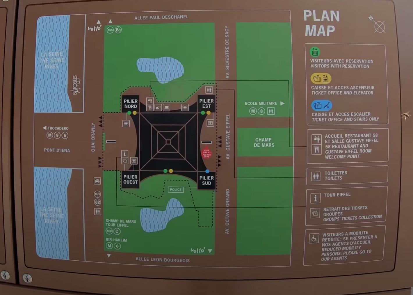 План Эйфелевой башни